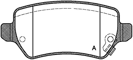Open Parts BPA1136.01 Pastiglia Freno Posteriore Set di 4