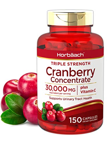 Horbaach Cranberry (30,000 mg) + Vitamin C Capsules