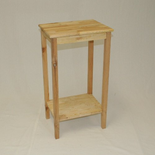 eHemco End Table with Shelf - Unfinished (Pine Side Table)