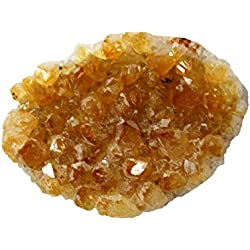 Rock Paradise 1 (One) Citrine Cluster - Natural Raw Citrine Cluster Power Stone- Chakra - Feng Shui - Reiki - Alter -Natural Stones Exclusive with Certificate of Authenticity (AM2B13-02)