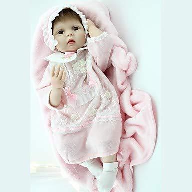 Unexceptionable-Dolls Reborn Doll Baby 22 Zoll Silikon Vinyl-Neugeborenen lebensechte handgemachte ungiftige Kinder Mädchen Spielzeug Geburtstag