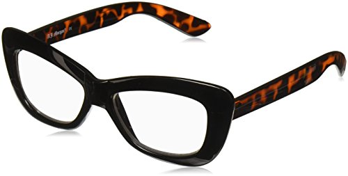 A.J. Morgan womens CRUSHED,  BLACK/TORT, 2.5 (Cat Eye Glasses 2017)