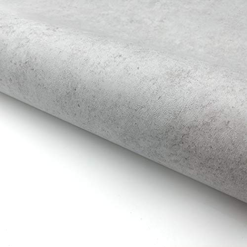RoyalWallSkins Concrete Cement Look Wallpaper Gray Contact Paper 24 x 78.7, Self Adhesive Peel & Stick Wallpaper Living Room Furniture