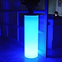 XINYE LED Waterproof Floor lamp Plastic Glowing Flower Pot Rechargeable Night Light with Remote