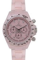 Toy Watch Plateramic Pink Dial Plastic Chrono Quartz Ladies Watch FLP10PK