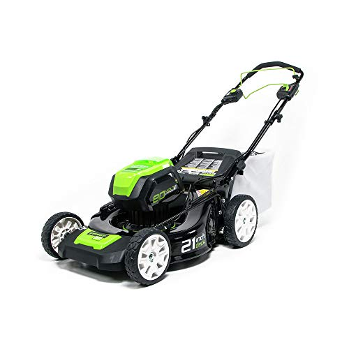 Greenworks PRO 21-Inch 80V Self-Propelled Cordless Lawn Mower, 5.0 AH Battery Included ()