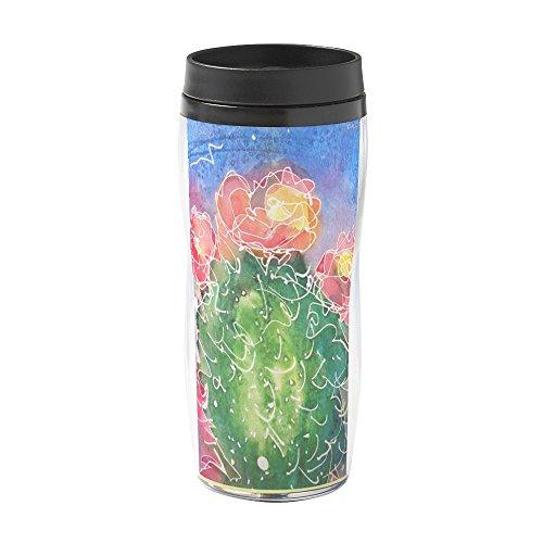 CafePress - Pink Cactus, Southwest Art - 16 oz Travel Mug by CafePress
