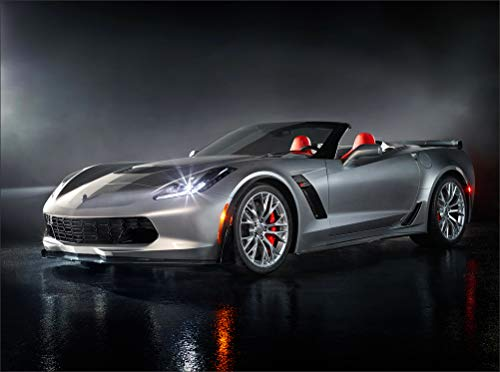 - Chevrolet 2015 Corvette Z06 Convertible Grey Headlights Cabriolet Cars Wall Art, Pop Art, Poster, Art Prints | Rare Posters