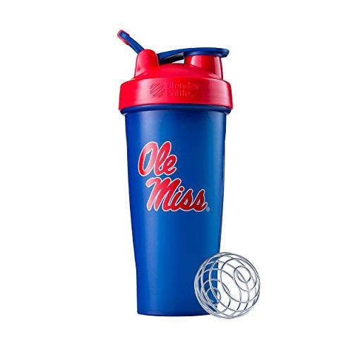 BlenderBottle Collegiate Classic 28-Ounce Shaker Bottle, University of Mississippi Rebels - Blue/Red