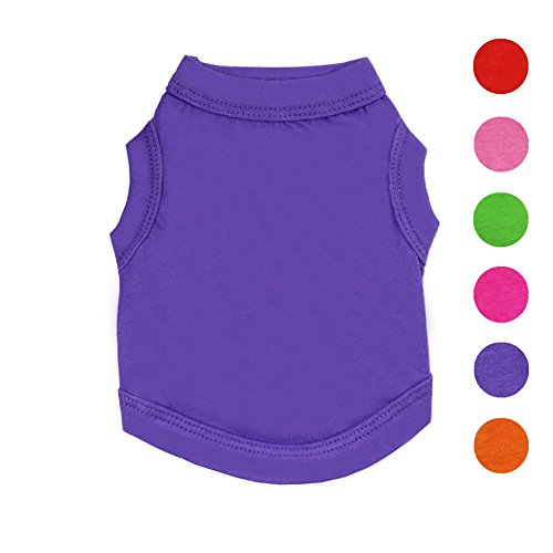 Alroman Dogs Shirts Purple Vest Clothing for Dogs Cats M Dog Vacation Shirt Male Female Dog Clothing Puppy Summer Clothes Girls Boys Cotton Summer Shirt Small Dog Cat Pet Clothes Vest T-Shirt Apparel
