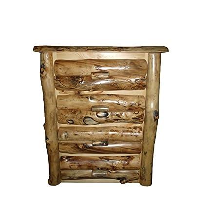 Amazon.com: Rústico Aspen Log 4 cajón Dresser: Kitchen & Dining