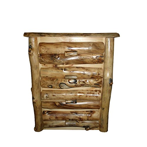 Rustic Aspen Log 4 DRAWER DRESSER ()