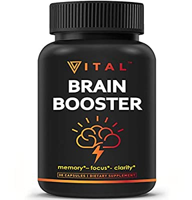 Brain Supplement Nootropics Booster - Enhance Focus, Boost Concentration, Improve Memory & Clarity For Men & Women, Ginkgo Biloba, DMAE, Mind Enhancement, IQ Neuro Energy, Vitamin B12, Bacopa Monnieri