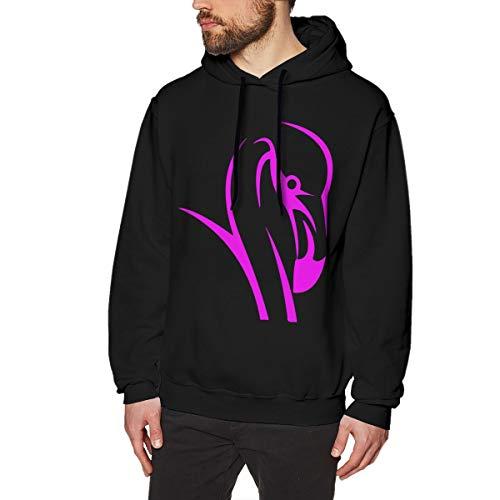 Flamingo Spirit Animal 3 Men's Hoodie Long Sleeve Coat Cotton Sweatshirt Black