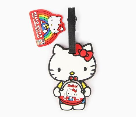 Hello Kitty Con 2014 Exclusive Coin Purse Luggage Tag 40th Anniversary ()