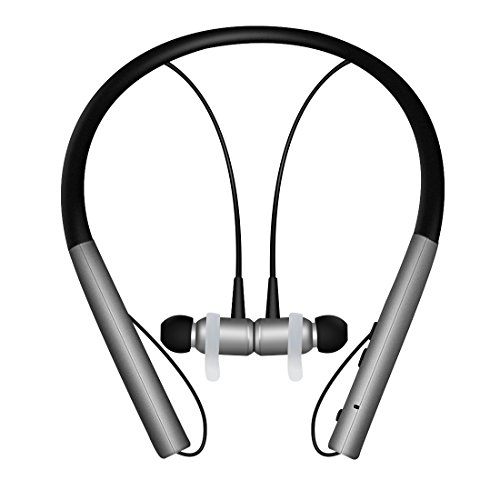 Price comparison product image Bluetooth Stereo Headphone,Kimitech Neckband Magnetic earphone LightWeight Noise Cancellation Waterproof with Mic … (black)