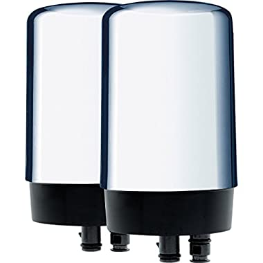 Brita On Tap Faucet Water Filter System Replacement Filters, Chrome, 2 Count