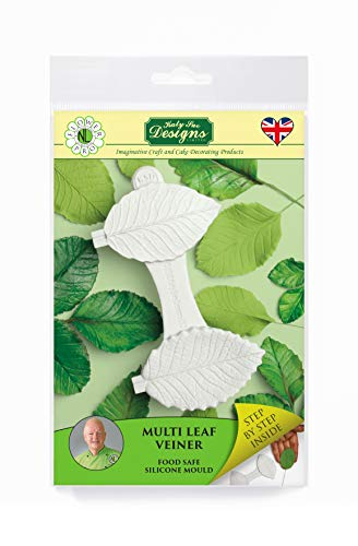 Multi Leaf Veiner Silicone Sugarpaste Icing Mold, Nicholas Lodge Flower Pro for Cake Decorating, Sugarcraft and Candies, Food Safe