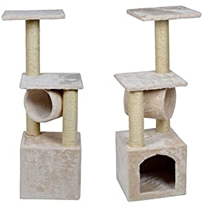 Eminent Popular 36'' Cat Tree Scratching Post Condo Play Toy House Color Beige