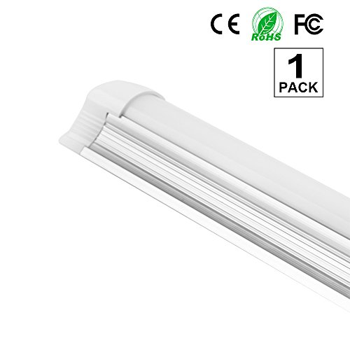 1Pack 4ft Frosted Cover Full Spectrum Integrated T8 LED Plant Grow Lights Tube 85-265V 18W 1500LM Garden Hydroponic Greenhouse T8ZWD120 by sansen lighting
