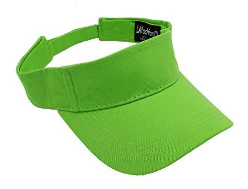 LAfashion101 Sun Sports Visor Hat Cap - Classic Cotton for Men Women, LIM Lime