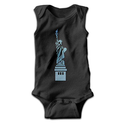 YiYa Infants Boy's & Girl's England Landmark Short Sleeve Jumpsuit Outfits For 0-24 Months Black 6 M (England Lingerie)