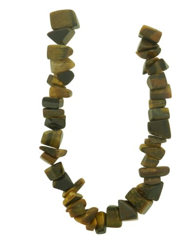 10 Mm Nugget Beads - Tennessee Crafts 1443 Semi Precious Tiger Eye Nuggets Beads, 8 by 10mm, Yellow