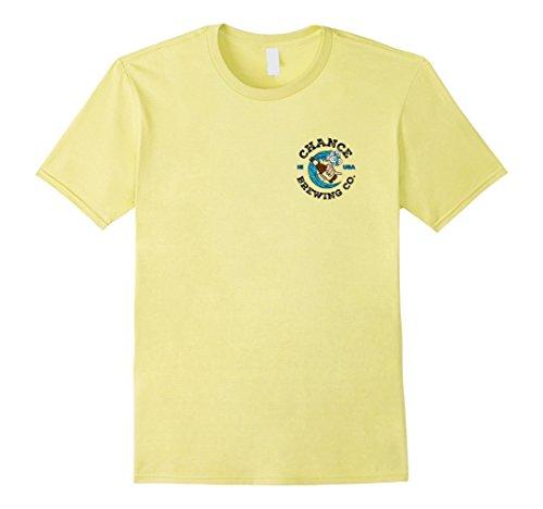 Brewing Co T-shirt - Mens Chance Brewing Co Hawaiian Beer T-Shirt with Logo on Back XL Lemon