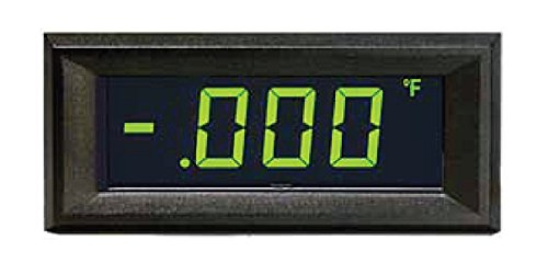 Open Source Meter OSMLP-3EGN Miniature Digital Panel Meter GREEN NEG Backlight 3 1/2 Digit LCD Display 4-20mA Loop Powered Eng Units °F °C PSI % Decimal Points 3 Position Adjustable Span and Offset (Powered Meter Loop)