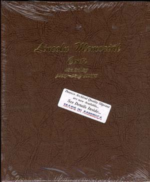 Dansco US Lincoln Memorial Cent Coin Album 1958 - 2009 with Proof ()