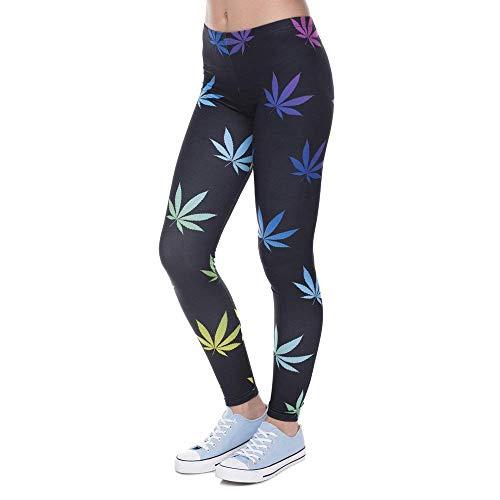 Lga41593 Da Arrivo Legging Leggins Weeds Pantaloni Unico Per Elegante Stampati Color Betrothales Yoga Leggings Nuovo Donna 1f8Zq