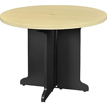 Amazoncom Altra Benjamin Round Office Table Bundle NaturalGray