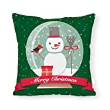 DKISEE Merry Christmas Throw Pillow Cover Christmas Glass Ball Square Pillow Case Sofa Couch Chair Throw Pillow Case Cushion Cover for Home Decor
