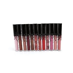 GODHL 12 Couleurs Longue Durée Rouge à Lèvres Liquide Mat Waterproof Hydratant Brillant Maquillage à Lèvres