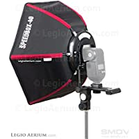 SMDV Diffuser Speedbox-S40 - Professional 17 Inch (17 x 15) Rigid Hexagonal Softbox for Speedlite or Speedlight Flash - Legio Aerium Limited Edition
