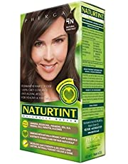NaturTint Permanent Hair Colour - 4N Natural Chestnut, Ammonia Free, Vegan, Cruelty Free, up to 100% Gray Coverage, Long Lasting Results