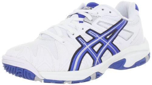 (ASICS GEL-Resolution 5 GS Tennis Shoe (Little Kid/Big Kid),White/Royal Blue/Lightning,1.5 M US Little Kid)