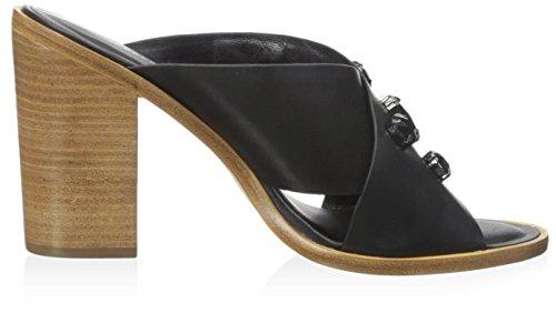 Loeffler Randall Mujeres Jewelled Mule Stacked Heel Black / Black