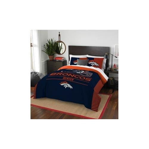 NFL Denver Broncos Draft Full/Queen Comforter and 2 Sham Set Denver Broncos Bedding