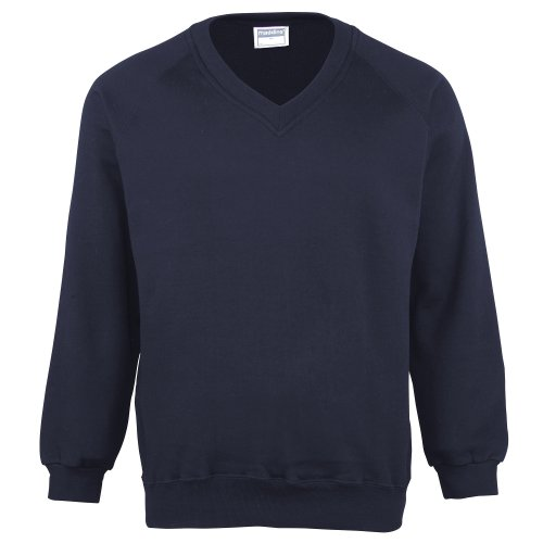 (Maddins Mens Colorsure V-Neck Sweatshirt (XXXL))