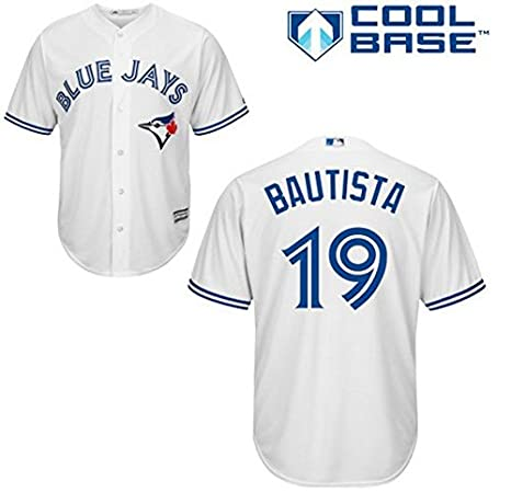41b0ac29a7c Amazon.com   Majestic Jose Bautista Toronto Blue Jays  19 MLB Youth Cool  Base Home Jersey (Youth Medium 10 12)   Sports   Outdoors