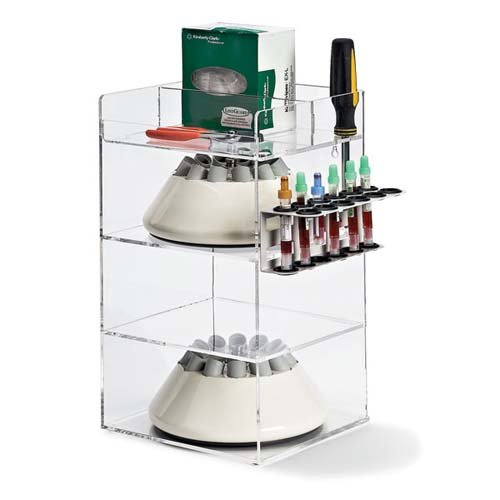 Clearform 15789 Centrifuge Rotor and Accessories Organizer, Acrylic