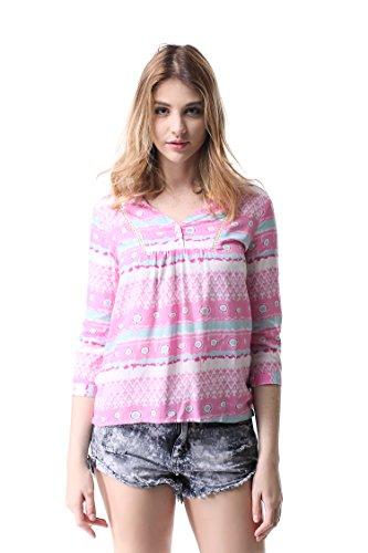 Blouses Tops Fit Shirt 4 T Chiffon 3 Tunique G Loose 1 06 Shirts Casual Pau1Hami1ton Manches Femme Sq1txYcwO