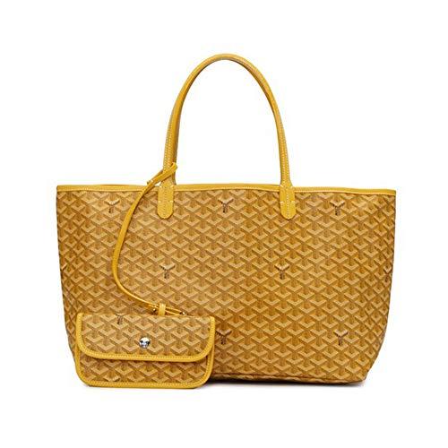Shopping avec Sac bandoulière en à Vnlig orange microfibre pour jaune femme Shopping bandoulière couleur nUYxTxdqw