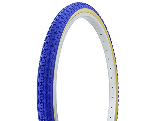 Duro BMX Tire, 26x1.75in, Blue w/Gum Wall