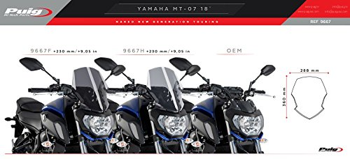 Carenabris Touring Yamaha MT-07 18-19 Negro Puig 9667n