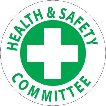 NMC HH46 2'' x 2'' PS Vinyl Hard Hat Emblem w/Legend: ''Health & Safety Committee'', 12 Packs of 25 pcs