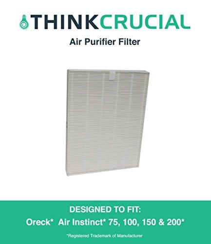 Oreck AirInstinct HEPA Air Purifier Filter Fits AirInstinct 75, 100, 150 & 200, Designed & Engineered by Crucial Air