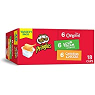 Pringles, Potato Crisps Chips, Variety Pack, 12.9oz Box (18 Count)