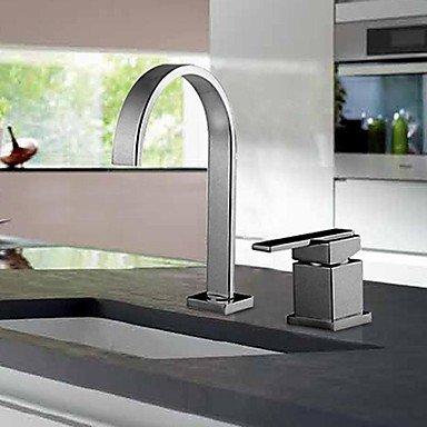 JIAHENGY Waschbeckenmischer Wasserhahn Mischbatterie Armatur Im Europäischen Stil Retro Kunst Deck montiert Ein Loch verchromt, WC Küche Badezimmer